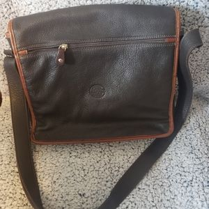 Genuine Leather Roots Canada Messenger Bag